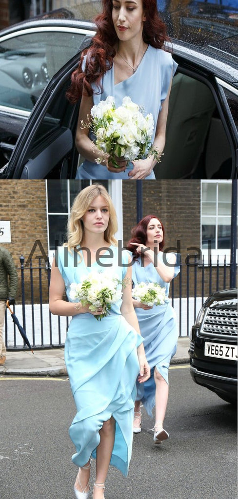 Blue Mermaid Unique Elegant Bridesmaid Dresses AB4238