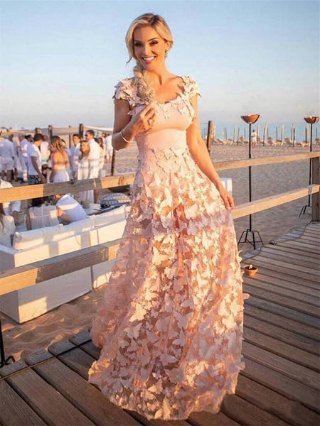 6317fda9c57 FEATURED PRODUCTS. Your product s name.  200.00. Blush Pink Butterfly  Applique Cap Sleeve Prom Dresses.