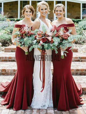 products/Burgundy_Jersey_Off_Shoulder_Mmermaid_Long_Bridesmaid_Dresses_AB4028-1.jpg