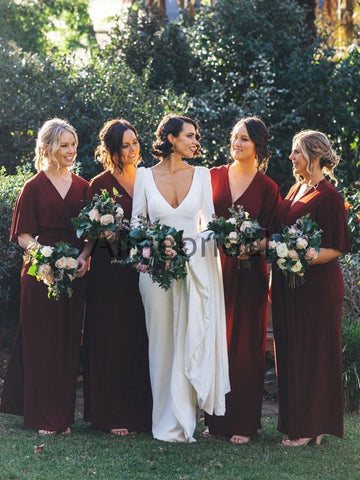 products/Burgundy_V-neck_Half_Sleeve_Plus_Size_Bridesmaid_Dresses_AB4106-1.jpg