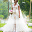 Cap Sleeves Detachable Over-skirt Lace Nude Lining Wedding Dresses , AB1152