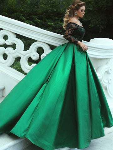 products/Charming_Off_Shoulder_Black_Appliques_Green_Satin_Ball_Gown_Prom_Gown_Dresses_PD00047-1.jpg