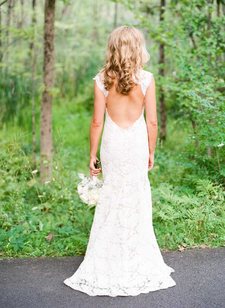 Charming Sexy Mermaid Ivory Lace Open Back Vintage Wedding Dresses, WD0058