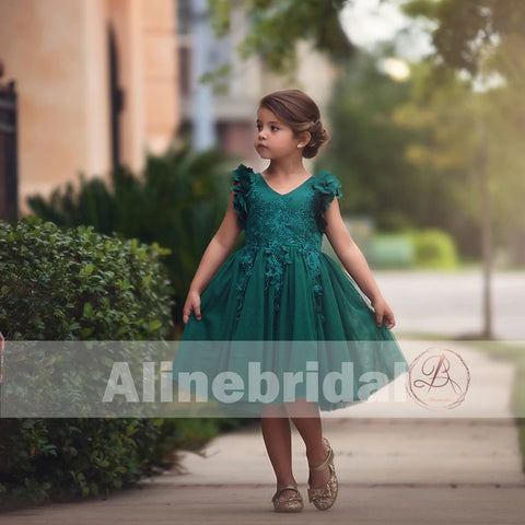products/Dark_Green_Appliques_Tulle_Pretty_Sleeveless_Short_Flower_Girl_Dresses_FGS076-1.jpg