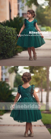 products/Dark_Green_Appliques_Tulle_Pretty_Sleeveless_Short_Flower_Girl_Dresses_FGS076-2.jpg