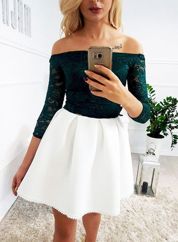 products/Dark_Green_Lace_Top_Ivory_Satin_Off_Shoulder_Simple_Homecoming_Dresses_BD0063-1.jpg