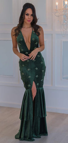 products/Dark_Green_Velvet_Beading_Mermaid_Halter_Slit_Prom_Dresses_PD00260-2.jpg