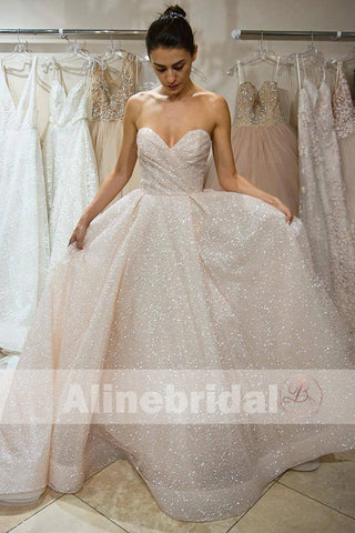 products/Dark_Ivory_Sparkly_Bling_Sequin_Sweetheart_Strapless_Cheap_Wedding_Dresses_AB1149-a.jpg