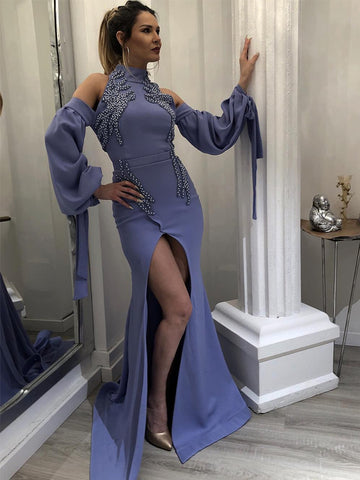 products/Dark_Lavender_High_Neck_Long_Sleeves_Unique_Prom_Dresses_PD00190-1.jpg