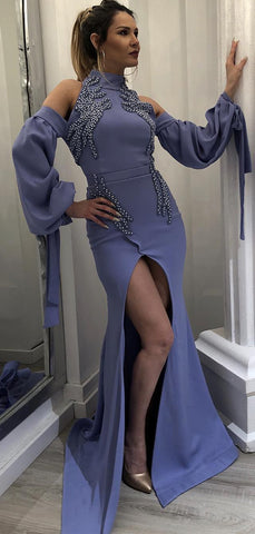 products/Dark_Lavender_High_Neck_Long_Sleeves_Unique_Prom_Dresses_PD00190-2.jpg