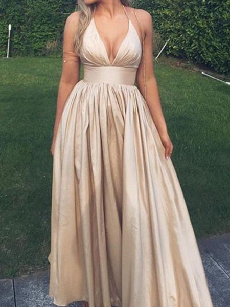 0c18a6ce08005 Deep V-Neck Sexy Evening Simple Formal Junior Long Charming Prom Dress  .AB1130