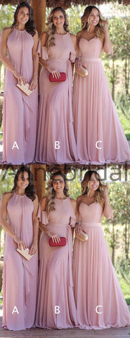 69946fa88028 products/Dusty_Pink_Chiffon_Mismatched_Cheap_Long_Bridesmaid_Dresses_AB4075-2.jpg.  Quick View. Dusty Pink Chiffon Mismatched Cheap Long Bridesmaid Dresses ...