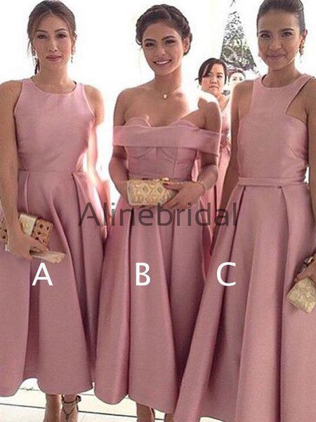 fb0ed02d7c6 FEATURED PRODUCTS. Your product s name.  200.00. Dusty Rose Satin Mismatched  Tea Length Elegant Bridesmaid Dresses ...