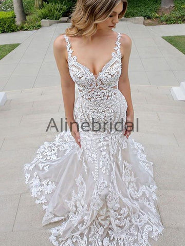 products/ElegantUniquePrettyCountryIvoryLongWeddingDresses_1.jpg
