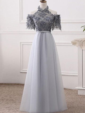 products/Elegant_Halter_Short_Sleeve_Grey_Handmade_Flower_Top_A-line_Prom_Dresses_PD00073-1.jpg
