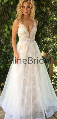 products/Fashion_Lace_Tulle_A-line_Beading_Belt_Sleeveless_Wedding_Dresses_AB1521-2.jpg