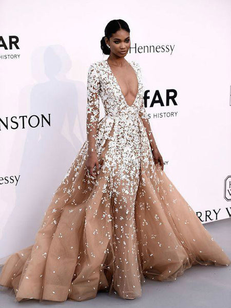 887c8287fa2 FEATURED PRODUCTS. Your product s name.  200.00. Gorgeous Nude Tulle  Applique Long Sleeve Formal Prom Dresses ...