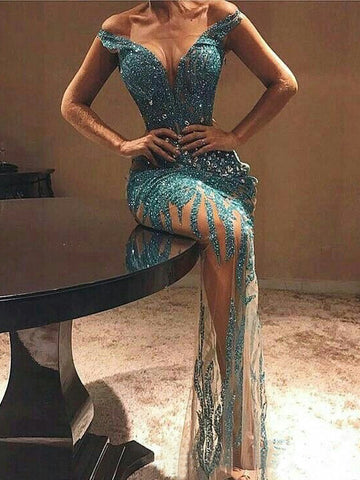 products/Green_Beading_Rhinestone_Illusion_Off_Shoulder_Prom_Dresses_PD00214-1.jpg