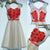 Lovely Heart-shaped Three-dimensional Lace Decals Sleeveless  Lace Up Back Sash Knee Length Homecoming Prom Dresses,BD00205