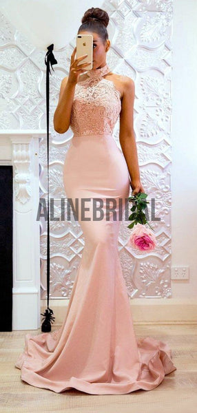 High Nick Hater Lace Mermaid Fashion Bridesmaid Dresses, AB4020