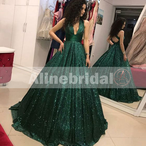 products/Hunter_Green_Sequin_V-neck_Criss-cross_Sparkly_Prom_Dresses_PD00109-1.jpg