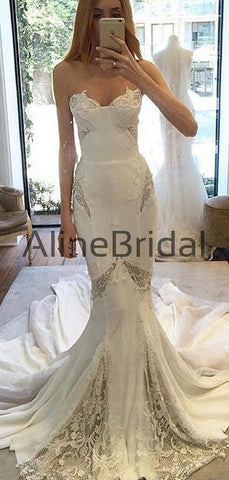 products/Ivory_Chiffon_Lace_Sweetheart_Strapless_Mermaid_Sexy_Wedding_Dresses_AB1564-2.jpg
