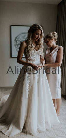 products/Ivory_Lace_Applique_Tulle_Sweetheart_Strapless_A-line_Forest_Wedding_Dresses_AB1553-2.jpg