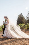 Ivory Lace Appliques Nude Sleeveless Backless Mermaid Wedding Dresses, AB1171