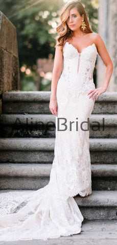 products/Ivory_Lace_Sweetheart_Strapless_Lace_Up_Back_Mermaid_Wedding_Dresses_AB1526-2.jpg