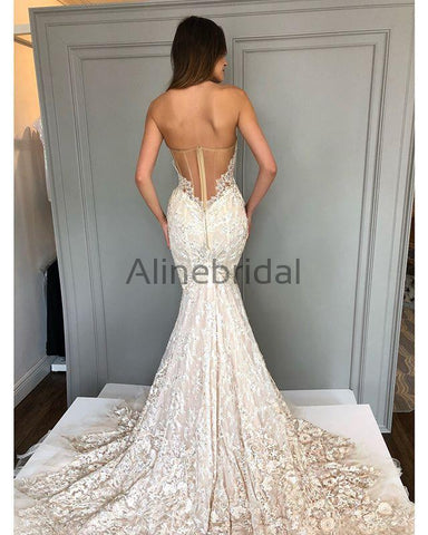 products/Ivory_lace_Sweetheart_Strapless_Mermaid_Charming_Wedding_Dresses_AB1510-A.jpg