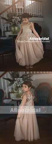 products/Light_Brown_Appliques_Tulle_Pretty_Sleeveless_Long_Flower_Girl_Dresses_FGS069-2.jpg