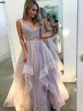 Lilac Organza Ball Gown Sweet-16 Prom Dresses,PD00303