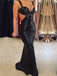 Long Black Sequined Sparkly Sexy Backless Evening Party Cocktail Prom Dresses Online,PD0200