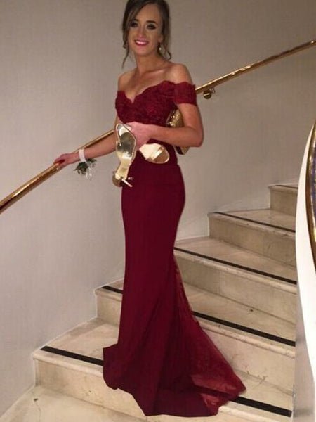 ea6fe442e8e08 FEATURED PRODUCTS. Your product s name.  200.00. Long Burgundy Off shoulder  Best Sales Inexpensive Evening Party Cocktail Mermaid Prom Dress.