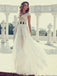 Long Cap Sleeve Sexy V-neck Side Slit Popular Wedding Prom Gown Dress, WD0121
