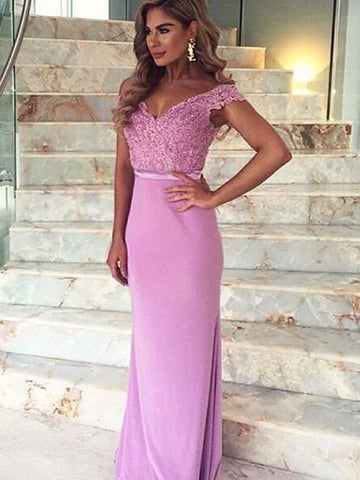 products/Long_Custom_Lace_Off_Shoulder_V-Back_Cocktail_Evening_Party_Prom_Dress_Online_PD0169.jpg
