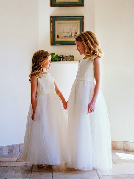 0a702bddc237 FEATURED PRODUCTS. Your product's name. $200.00. Long Ivory Simple Tulle  Satin Flower Girl Dresses ...