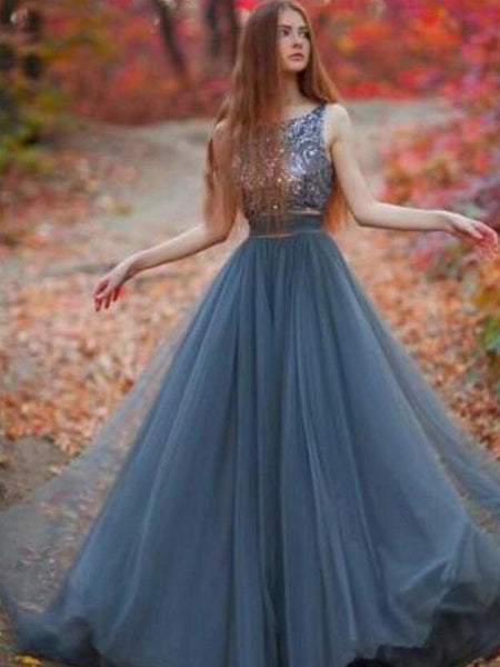 a63b1c29d631 Long Popular V-Back Sequined Ball Gown Casual Pretty Evening Party Pro –  AlineBridal