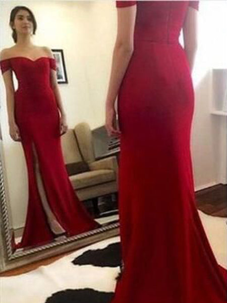 a4ba9ba4167 FEATURED PRODUCTS. Your product s name.  200.00. Long Red Off Shoulder Side  Slit Mermaid Cocktail Evening Party Formal Prom Dresses ...