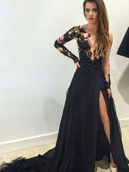 b98cfa20d67 FEATURED PRODUCTS. Your product s name.  200.00. Long Sleeve Black Lace  Sexy Charming Prom Dress ...
