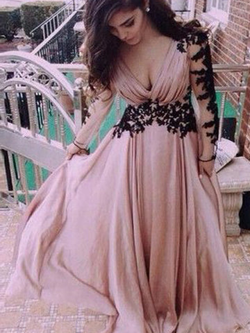 products/Long_Sleeve_Dust_Pink_V-Neck_Chiffon_Open_Back_Lace_Prom_Dress_PD0112.jpg