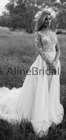 products/Long_Sleeve_Illusion_lace_Top_Detachable_Overskirt_Wedding_Dresses_AB1568-3.jpg