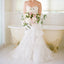 Long Tiered Lace Mermaid Strapless Vintage Charming Wedding Dresses, AB1084
