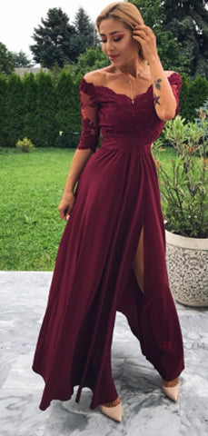products/Maroon_Off_Shoulder_Half_Sleeve_Lace_Long_Prom_Dresses_PD00284-2.jpg