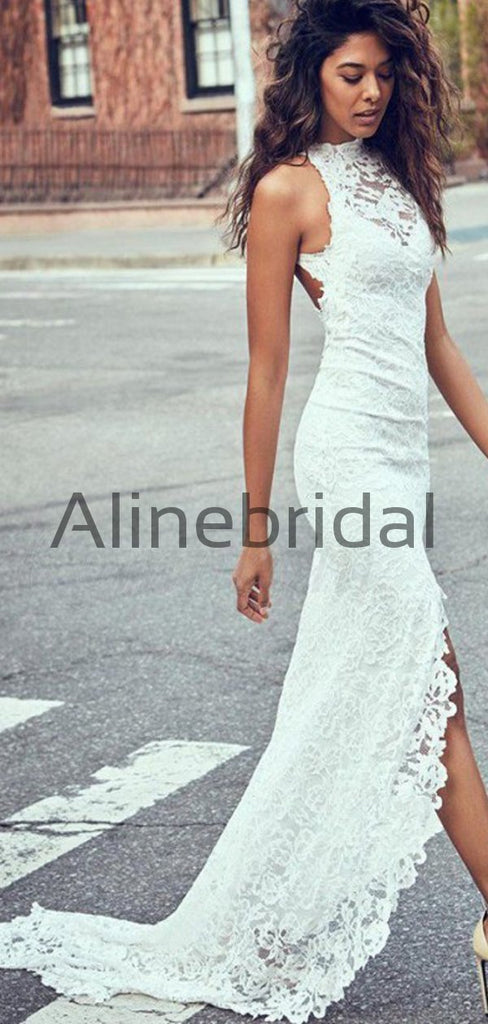 Mermaid Full Lace Mermaid Beach Long Wedding Dresses WD0578