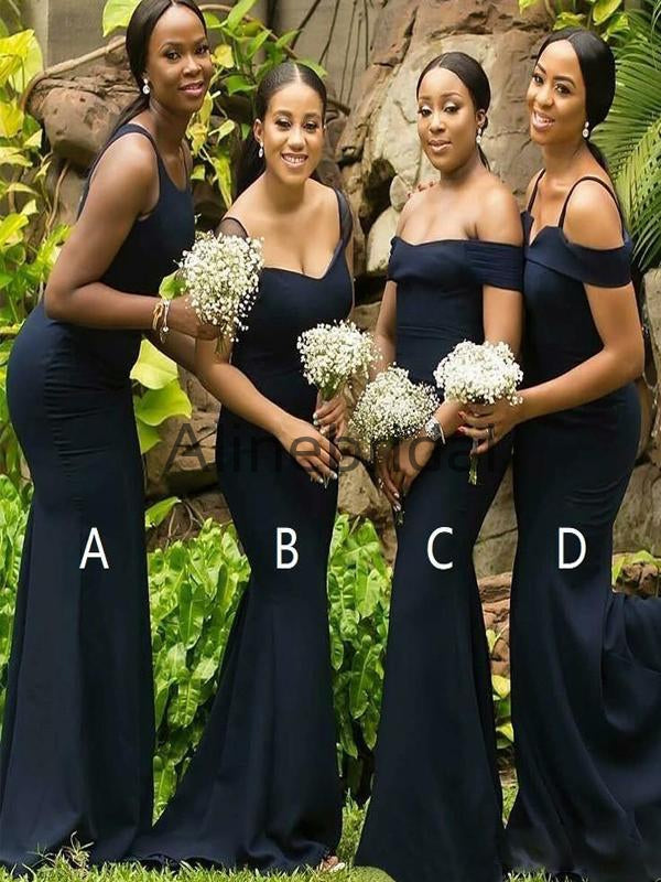Mismatched  Elegant  Mermaid Long Bridesmaid Dresses AB4245