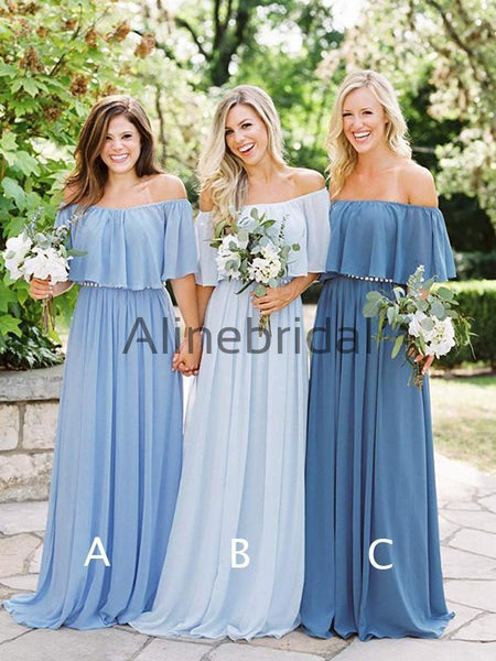 be155e4ee5c FEATURED PRODUCTS. Your product s name.  200.00. Mismatched Blue Chiffon  Off Shoulder Boho Wedding Bridesmaid Dresses ...