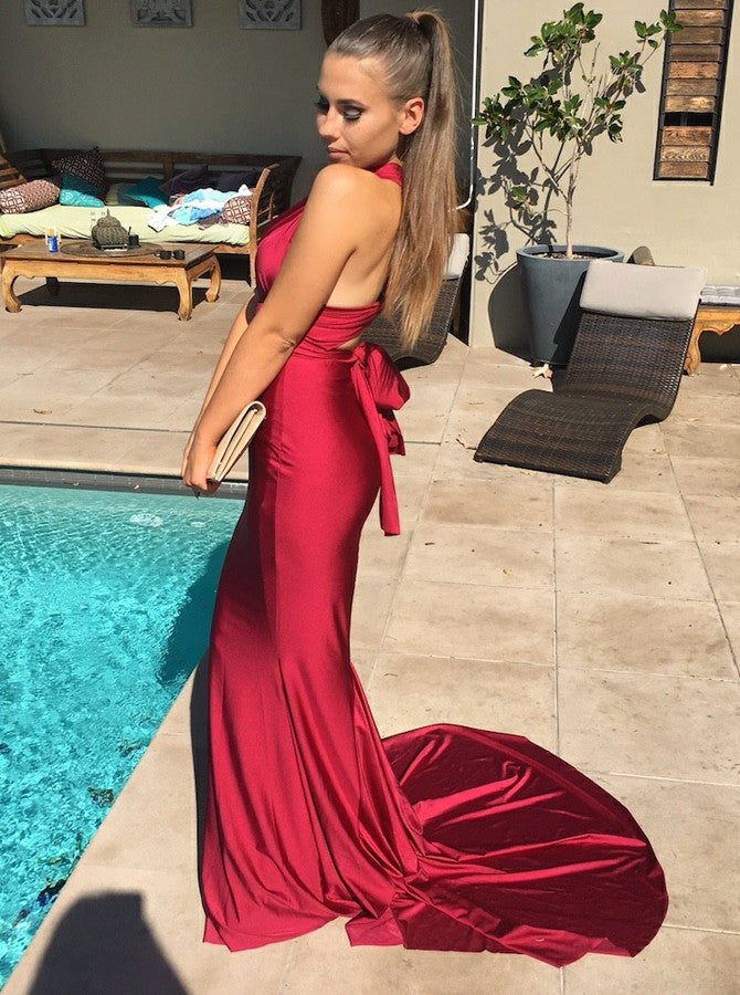 Mismatched Jersey Mermaid Formal Party Prom Dresses,PD00118
