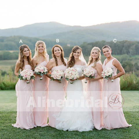 products/Mismatched_Pink_Chiffon_With_Unique_Ruffles_Split_Bridesmaid_Dresses_AB1223-1.jpg