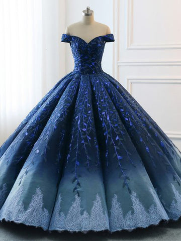 products/Navy_Lace_Applique_Off_Shoulder_Ball_Gown_Princess_Prom_Dresses_PD00137-1.jpg